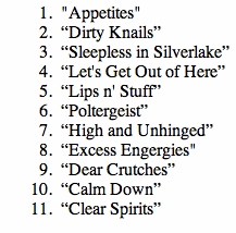 RFR Tracklist